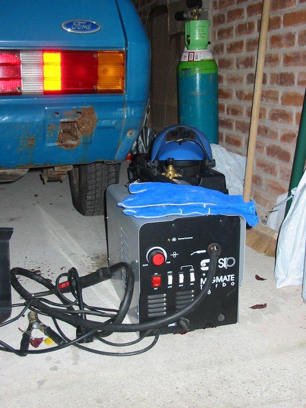 Borrowed SIP MigMate Turbo welder and Capri