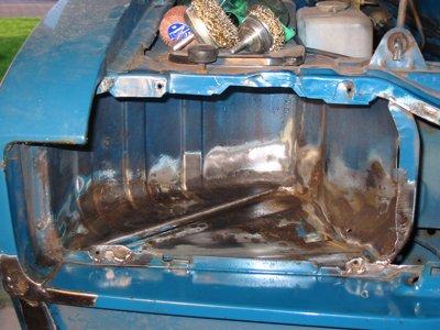 Cleaned-up Capri headlamp bowl