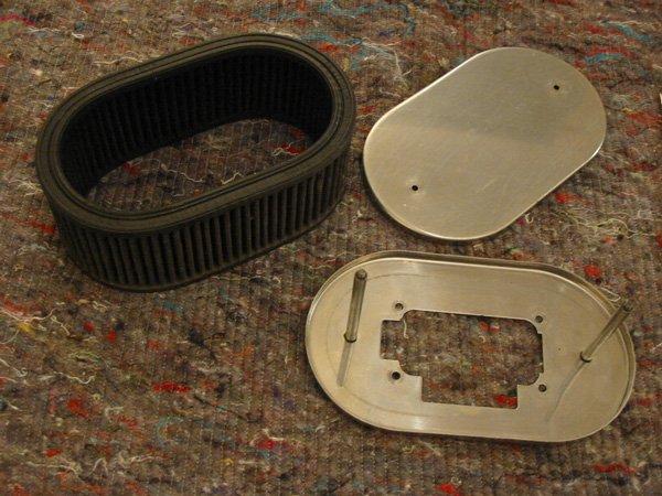 K&N air filter for Capri cleaned up