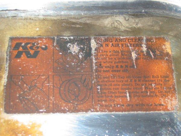K&N air filter original sticker