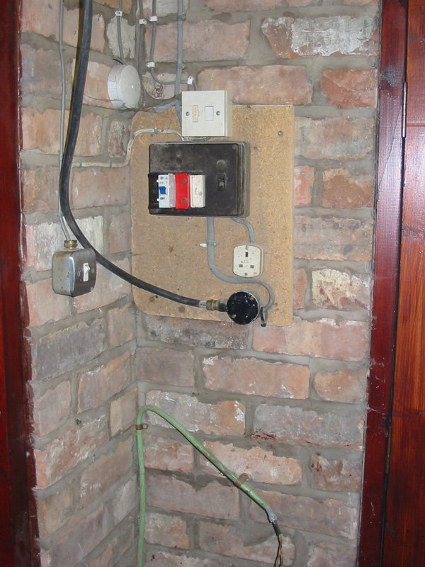 Garage electrics fuse board