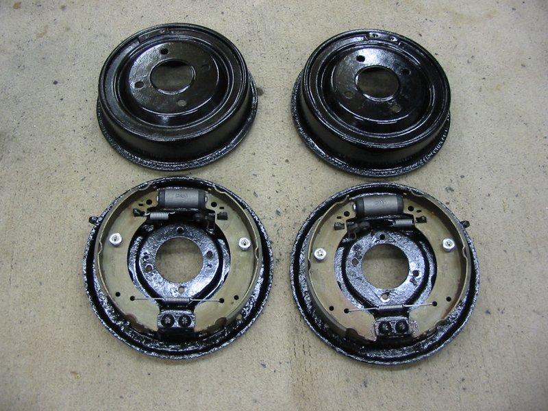 Refurbished Capri 2.8i 9 nine inch rear drum brakes