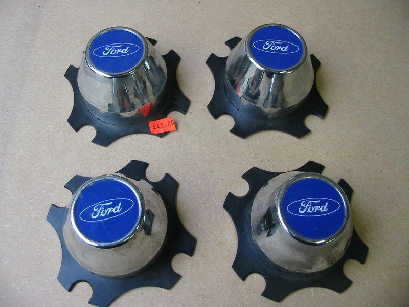 Ford chromed plastic wheel centres