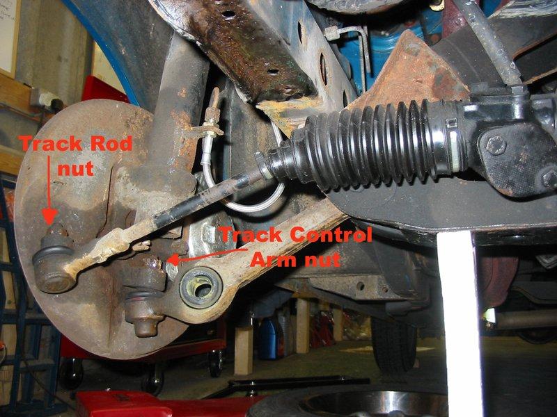 Capri track rod and track control arm nut
