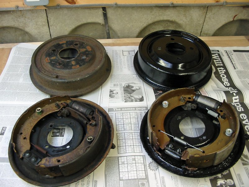 """Capri rear drum brakes 8"""" and 9"""" (eight and nine inch) from a 2.8"""