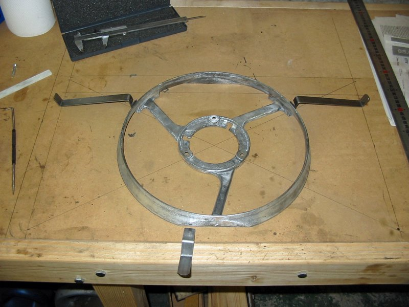 Fan frame and mounting brackets