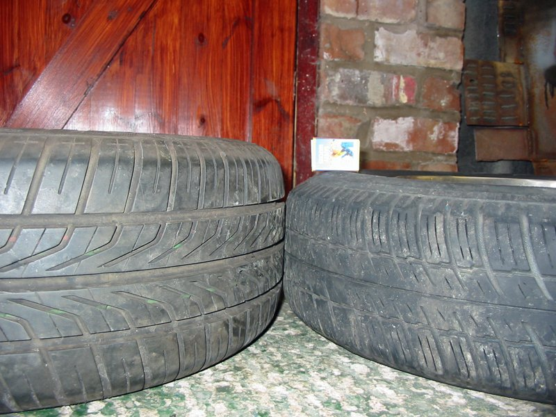 Compare 165/80/13 and 205/60/13 tyres