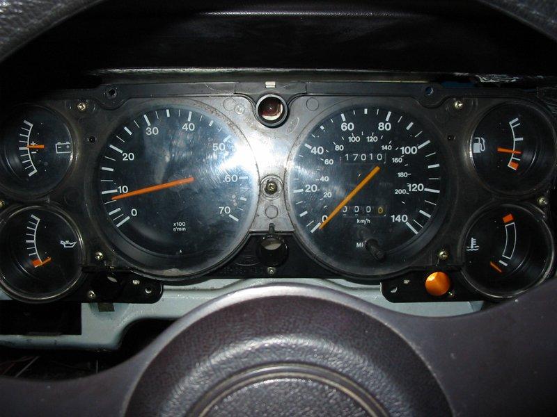 Six clock dash pod in a Capri GL
