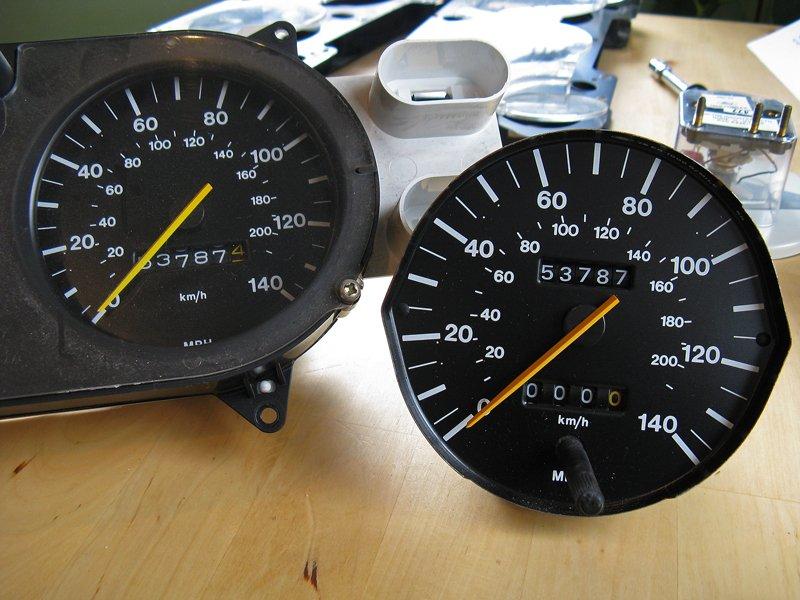 Capri tachometer speedometer speedo swap