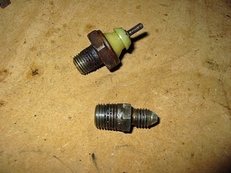 Capri oil pressure sender and pipe adapter