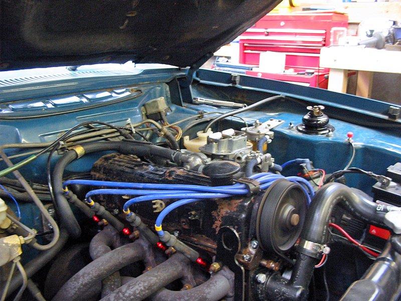 Capri engine running after servicing Weber carb with inline spark plug testers