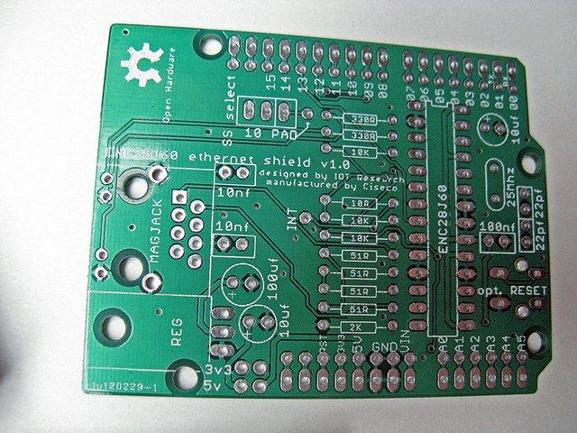 Ciseco ethernet shield board