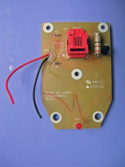 The PCB from the base unit